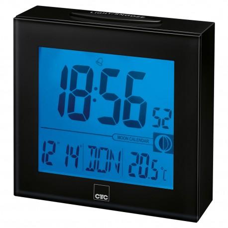 Zegar sterowany radiowo Clatronic FU 7025 (czarny)