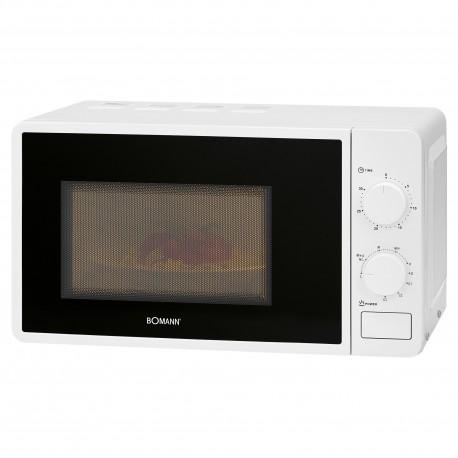 Kuchenka mikrofalowa z grillem 2W1 Bomann MWG 6015 CB (biała)