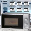 Kuchenka mikrofalowa z grillem 2W1 Bomann MWG 6015 CB (srebrna)