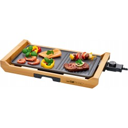 Elektryczny Grill stołowy na bambusowej tacy Clatronic TG 3697